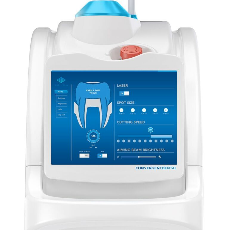 Solea dental technology features a clean, white design.